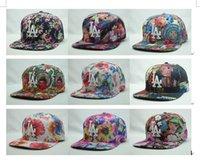 Wholesale LA summer hat flat brimmed hat adjustable male Ms Korean tidal flat along mlb baseball cap hip hop hat NY