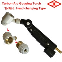 arc air gouging torch - TH78 Head changing type Air Carbon Arc Gouging torch for Carbon rod kryptol Use High power DC Arc welder