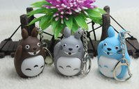 Wholesale Low Price My Neighbor Totoro LED Lighting Keychains ChildrenTotoro Key Chain Action Figures Toys Pendants Birthday Gifts Styles Z1008