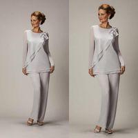 Cheap pant suits for mothers bride Best chiffon pants suits wedding