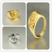 Wholesale 2015 new European and American gold Ring hip hop rap punk wave of people ring ring jewelry US8