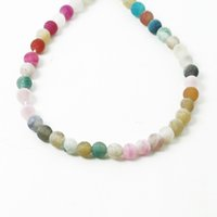 Wholesale Hot Fashion cm Approx Mixed Colors Agate Natural Gem Stone Spacer Beads fashion Jewelry Making DIY Bracelet DH BTB742 MX