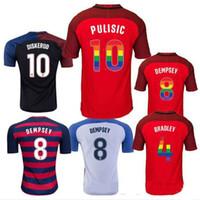 3d570d437 Soccer Men Short Thai quality 2017 2018 USA soccer jersey shirt third red  Rainbow lettering Football