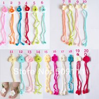 Wholesale Fashion Cute Infant Baby Girl Boy Barefoot Sandal Foot Flower Barefoot Sandals Crochet handmade Colors pairs S017A