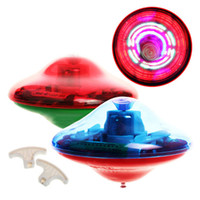 Wholesale New Baby toys Kids Flash LED Light Toy Music Gyro Peg Top Spinner Spinning Laser Color Brand