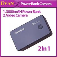 Wholesale 1280 MP Power Bank Motion detection Spy Audio Video Camera Motion Detection