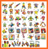Wholesale 100Pcs Lamaze Toy Crib toys with rattle teether Infant Early Development Toy stroller music Baby doll toy Cloth Books Styles For Choose