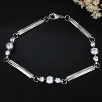 allergy card - FC Card round selling Miss Han Ban allergy titanium steel bracelet exquisite bracelet Hearts and Arrows diamond crystal radiation KL