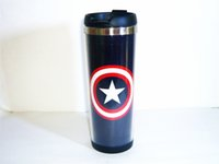 best coffee mugs - New High quality Captain America Badge Blue Coffee Mug Tea Cup Travel Cup Drinkware CM OZ Cup Best Gift