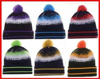best beach hats - 2015 Football Beanies All Teams Pom Pom Beanies Team Hat Winter Caps Popular Beanie Caps Skull Caps Best Quality Sports Caps Allow Mix Order