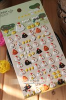 Wholesale New Cute Funny Chick Family Deco D PVC Sticker Decoration Label
