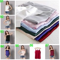 beige camisole - 5 TOPB4258 new color women sexy Y shape slim mulberry Silk condole belt lady summer camisole vest fashion tops hotsale Tanks tees shirts
