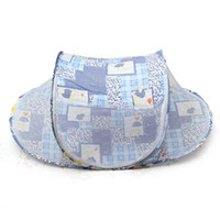Wholesale 2015 New Baby Foldable Safty Mosquito Net Boat Style Playpen Shade Travel Tent Bed Blue