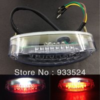 atv rear number plate - UNIVERSAL MOTORCYCLE Clear LED REAR TAIL STOP BRAKE NUMBER PLATE LIGHT For ATV Honda Suzuki Yamaha order lt no track