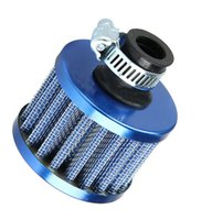 Wholesale 12mm Mini Blue Universal Car Motor Cone Cold Air Intake Filter Turbo Vent Sales around the world