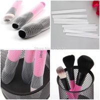 beauty guard - 10pcs set Makeup Cosmetic Beauty Brush Protector Pen Guards Make up Brushes Sheath Mesh Netting Protector Cover Makeup Tools