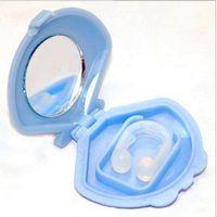 Wholesale New Silicon Stop Snoring Nose Clip Anti Snore Sleep Apnea Aid Device Night Tray