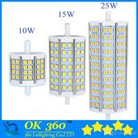 R7S LED 10W 12W 15W 20W 25W 5050 ampoule de maïs 78mm 118mm lampe ampoule LED R7S 189mm NO-dimmable 5050 lampe de maïs projecteur halogène 85V-265V