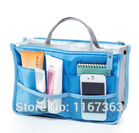 Wholesale Dual Zipper Portable Multifunction Thicken Storage Bag Case Holder makeup bag