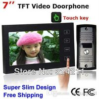 Wholesale Home Inch TFT Touch Screen Color Video Door Phone Intercom system Night Vision doorphone Camera A5