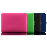 Wholesale For MacBook Air Pro Retina quot Portable Zipper Soft Sleeve inch Protective Laptop Bag Case Ultrabook Notebook Lightweight