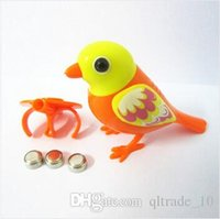 Wholesale 50pcs CCA2407 Creative Cute Cartoon Hot Digi Birds Pets Music Electric Bird Singing Bird Toys With Button Battery Christmas Gift For Kids