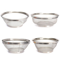 Wholesale Simple Design Household Put Fruit Vegetable Basket Stainless Steel Drain Plate Kitchen Storage Food Bowl Holder Size