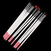 Wholesale nail brushes set tool brushes kit with wood handle good quality nylon hair