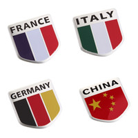 Wholesale Flag Badge For Germany England Italy France with Sticker D Car badges logo Stickers Decal Car Emblem