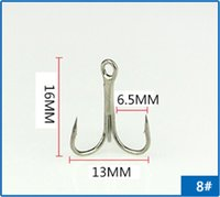 Wholesale 100 Super Fishing Hooks Barbed Hook Round Bent Treble With Eye Free Fisher