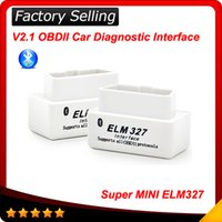 For BMW best car bluetooth system - 2016 Hot selling Best Quality SUPER MINI ELM327 Bluetooth OBD2 V2 White Smart Car Diagnostic Interface ELM Wireless Scan Tool