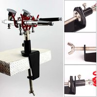 Wholesale Airbrush Holder Clamp on Table Mount Station Paint Spray Gun Holder Kit Tools