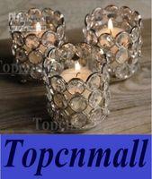 Wholesale Crystal tea light holder crystal tea light votive crystal candle holder