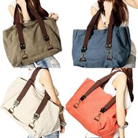 Wholesale 100 Brand New Canvas Casual Shopper Travel Tote Hobo Handbag Shoulder Bag Large Capacity Shopping Bags