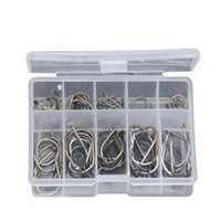 Wholesale Fishing Hooks Outdoor Fashing to Fish Barbed Hooks Pieces In One Plastic Box Fishing Gear
