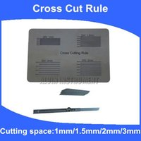 Wholesale Cross Cutting Rule cross cut guide Adhesion Tester cross cut Cutting space mm mm mm mm