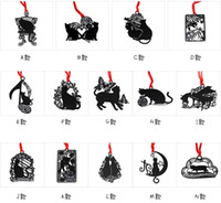 baby card book - 25pcs Design Stainless Steel Black Cat Bookmark Book card For Wedding Baby Shower Party Birthday Favor Gift Souvenirs