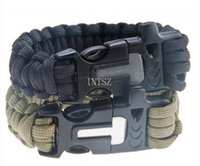Wholesale Factory Price Paracord Buckles In Kit Paracord Accessories Survival Bracelet Fire Striker Survival Flint Fire starter Freeship
