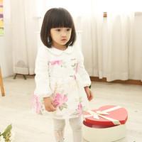 baby doll costumes - Korean Baby Girls Tutu Dress Flowers Long Sleeve Toddler Costume Cute Doll Collar Princess Dresses For Infant Fit Age K793