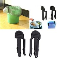 trash cans - 1set Home Dustbin Waste Bin Trash Bag Fixed Garbage Can Clip Holder Clamp