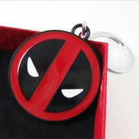 big red key - Hot sale New Marvel Comics Deadpool Action Figure Big face Symbol Enamel Metal Key Chain Key Ring Tag Best gift