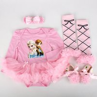 clothes and shoes - frozen baby clothes set girls TUTU dresses with shoes Leg warmers and bow for month