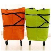 shopping cart - 4 styles Portable Shopping Bag Foldable Luggage Cart Travel Trolley Bag Wheel shopping bag shopping cart wheel bag travel bag LJJC1585