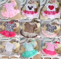 rompers - 2015 Newborn Chevron Tutu Romper Dress headbands Toddler Zig zag Ruffles Tutu Rompers Plain tutu Jumpsuits baby Romper Dress styles