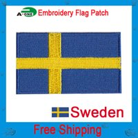 assorted clothing designs - sweden flag patch Hot Sale Patch Cloth Decoration Label Mix model National Flag Hot Iron Mending Clothes Designs Assorted Random Shipm