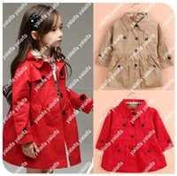 Wholesale 2015 hot Girl s trench Autumn Spring Girl Double breasted Coat Girl s Fashion Outwear Children s Lattice Trench Hoodies Winter Jackets TO002