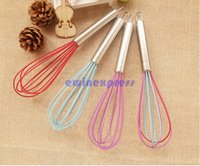 balloon whisk - Enduring Handle Whisk Silicone Kitchen Mixer Kitchenware Balloon Wire Egg Beater Tool