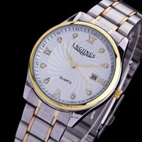 analog pack - Hot sale men watch luxury fashion waterproof men women wristwatch top brand golden men business watch with gift box packing
