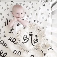 Wholesale INS hot Baby bed blanket Summer Cotton blanket for infant children Bear roxymarj bedding Bear Blankets cm