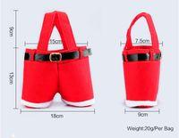 christmas gifts - 2015 New Hot Santa pants style Christmas candy gift bag Xmas Bag Gift BO6971